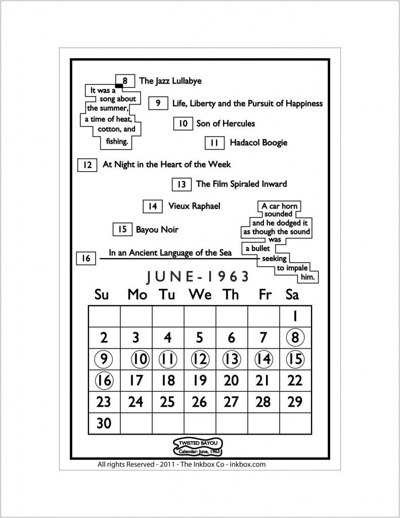 June 1963 Calendar