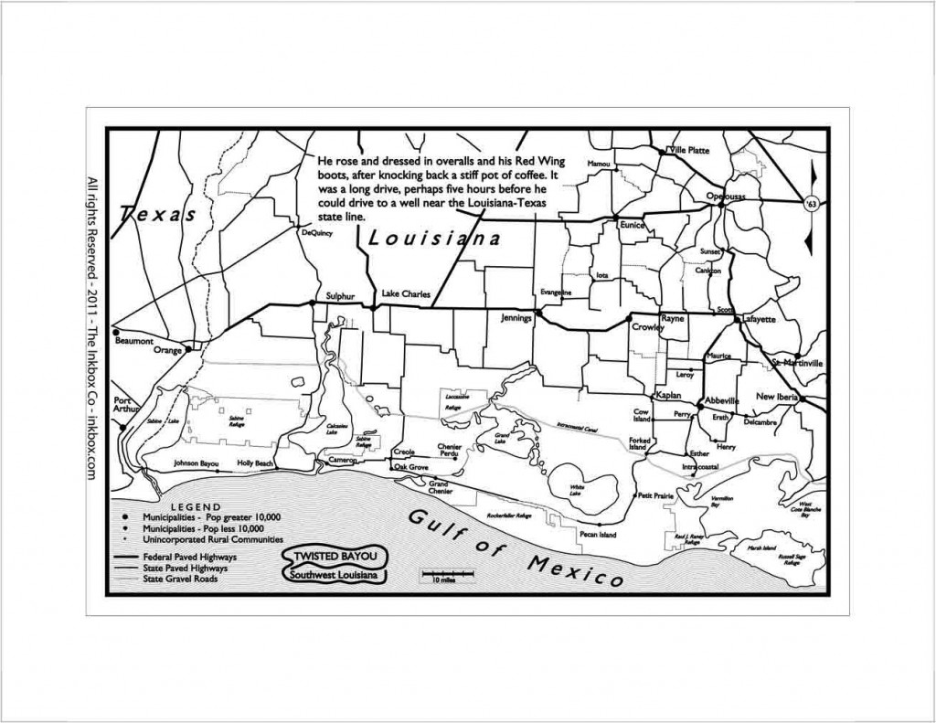 Map of Southwest Louisiana