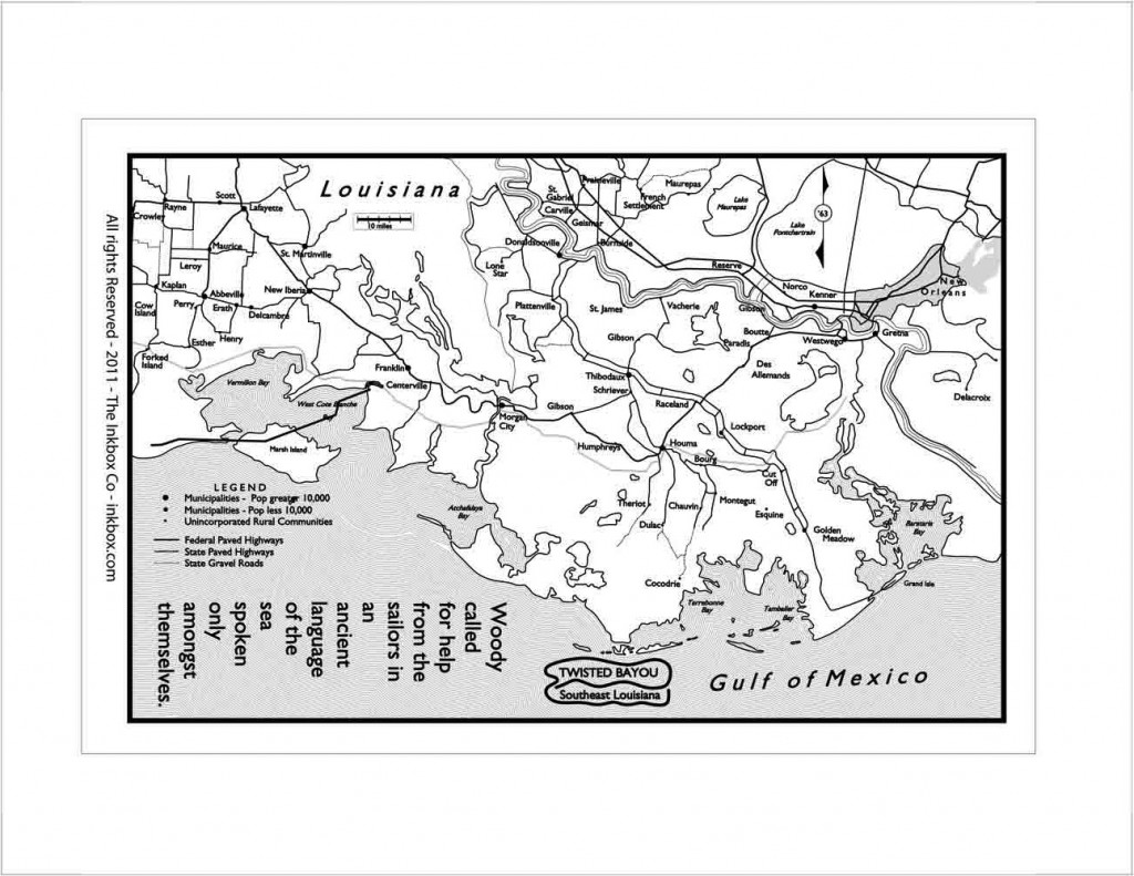 Map of Southeast Louisiana