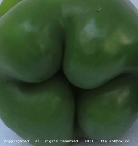 Butt of the Bell pepper