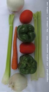 sideway vegetable.